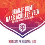 Oranje dames onder 17 tegen Zweden op woensdag 28 februari 2018